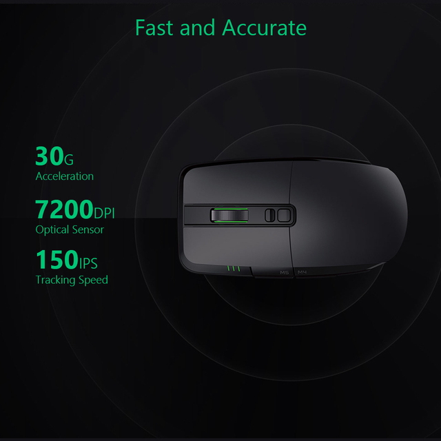 Original Xiaomi Wireless Mouse Gaming USB 2.4GHz 7200DPI RGB Backlight Rechargeable Computer Mouse Gamer Optical 3