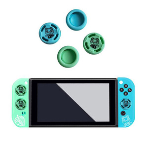 Image 2 - Bear Leaf Thumb Stick Grip Cap Animal Crossing Joystick Cover Skin For Nintendo Switch NS Lite Joycon Controller Silicone Case