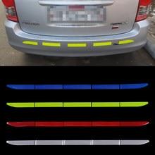 Bande adhésive réfléchissante 5 pièces/ensemble pour voiture, bande d'avertissement Anti-Collision pour extérieur, protection de la carrosserie