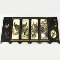 Permalink to 6 Panel Peac.ock Oriental Screen Room Divider Wood Folding Partition Top Hot Sale Chinese Style  Screen Gift