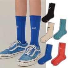 Calcetines de alta calidad de los hombres ADER Bordado de letras deportes de algodón tubo medio de hombres y mujeres de la calle de moda de diseño Harajuku calcetines 52