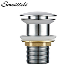 Smesiteli Bathroom Sink Drain Brass Without Overflow Hole Without Hole Push Down Pop-Up Bathroom Drain