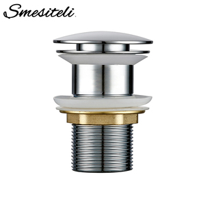 Image 1 - Smesiteli Bathroom Sink Drain Brass Without Overflow Hole Without Hole Push Down Pop Up Bathroom Drain