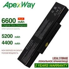 ApexWay SQU-528 SQU-529 ноутбук Батарея для LG/Asus EB500 ED500 M740BAT-6 M660BAT-6 M660NBAT-6 SQU-524 718 BTY-M66 M68