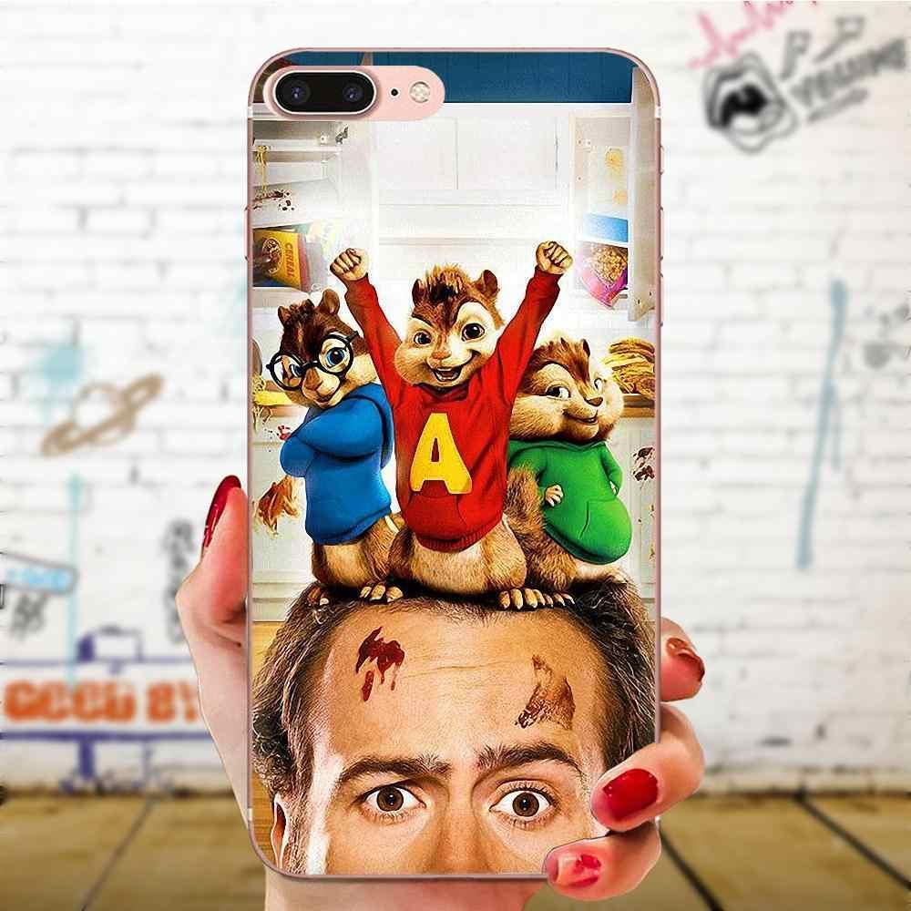 Fundas blandas para teléfono TPU película Alvin y las ardillas para Galaxy J1 J2 J3 J330 J4 J5 J6 J7 J730 j8 2015, 2016, 2017, 2018 mini Pro