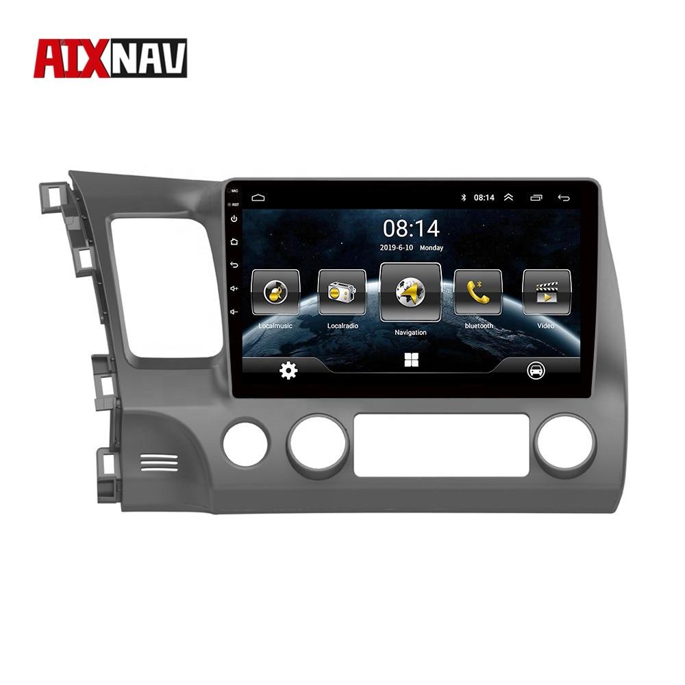Car Radio One Din Autoradio Bluetooth Wifi Android Car GPS Navigation For Honda CIVIC 2009 Wifi DVR FM Rear View Camera Monitor
