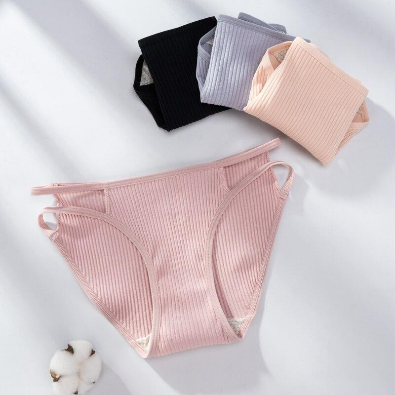 Low Waist Women Panties Cotton Ladies Briefs Underwear Comfortable Soft Underpants Female Solid Color Hollow Out M-XL Pantys