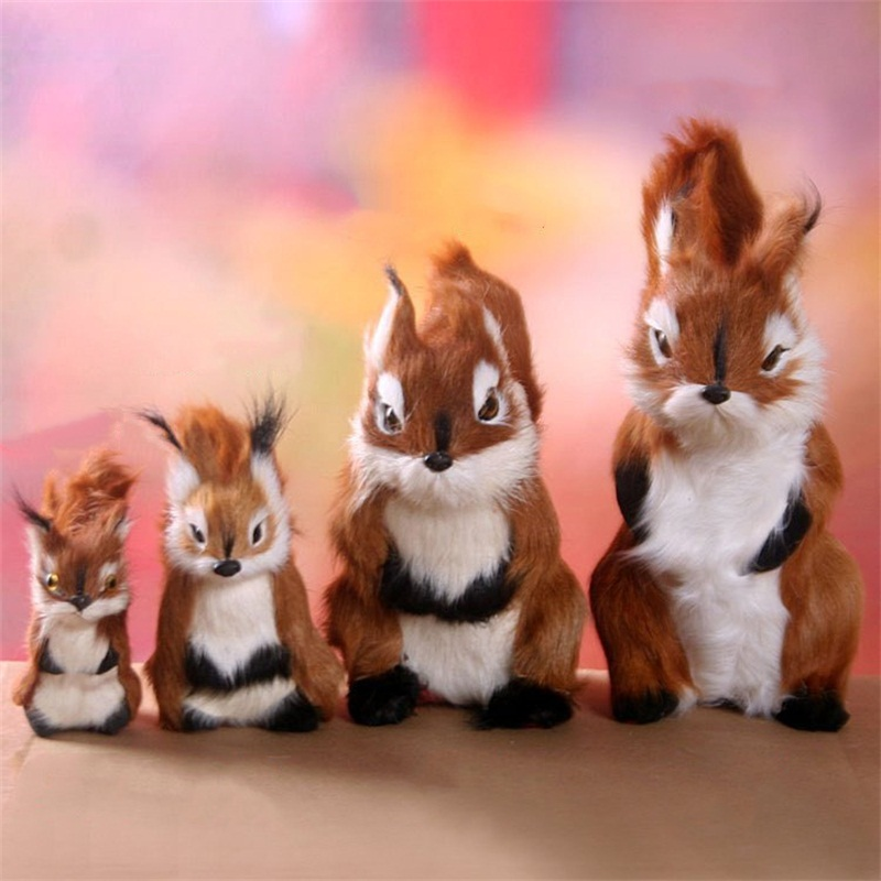 Simulation Squirrel Plush Toys Dolls Model Kids Toys Home Decoration Baby Accompany Sleep Toy Christmas Birthday Gifts