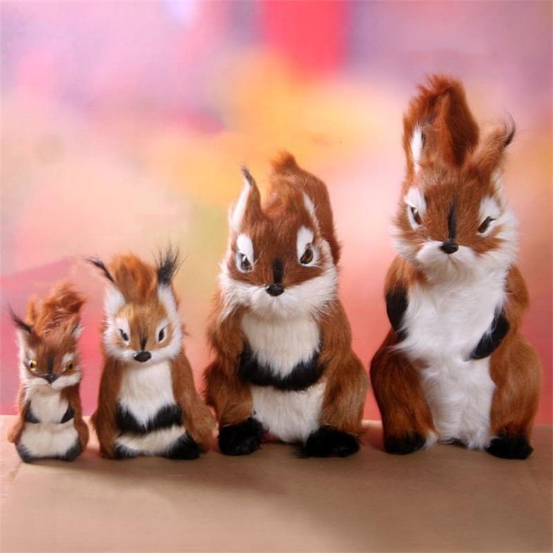 Simulation Squirrel Plush Toys Dolls Model Kids Toys Home Decoration Baby Accompany Sleep Toy Christmas Birthday Gifts