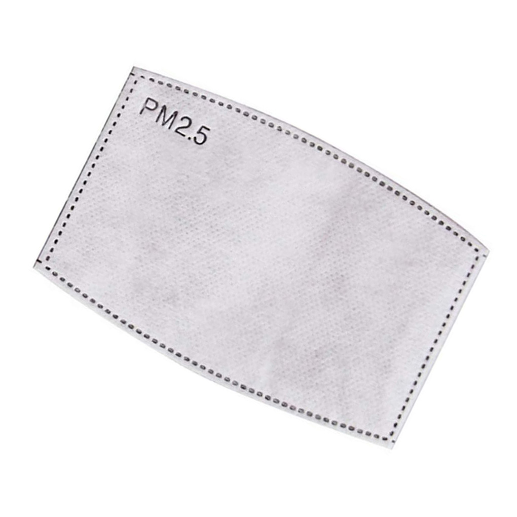 10/20pcs 5 Layers Mask Filter Insert PM 2.5 Face Dust Mask Filter Replacements Anti-dust Anti Air Pollution