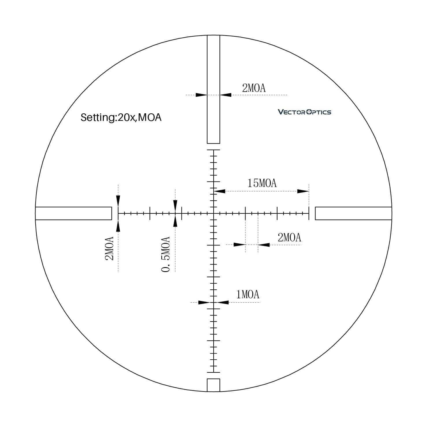 rifle scope mp reticle mira alvo tático
