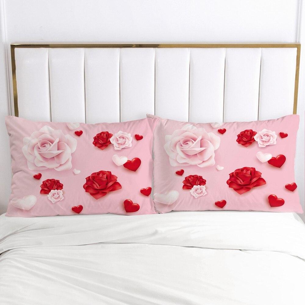 3D Pillow Case Pillowcase Custom 50x70 50x75 50x80cm Decorative Pillow Cover Bedding For Wedding Flowers Home Textile Microfiber