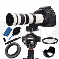 JINTU 420-800mm F/8.3 MF Supper Telephoto Lens +T2 adapter + cleaning kit for Olympus Panasonic Micro M4/3 Mount System camera