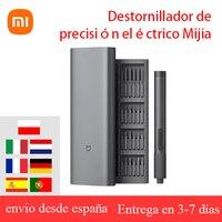 Xiaomi Mijia-Kit eléctrico de destornilladores de precisión, 2 engranajes de Control de torsión, tornillo 400, 1 caja de aluminio magnética recargable tipo C