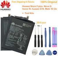 Oryginalny huawei 3340mAh HB356687ECW bateria do huawei Nova 2 Plus Nova 2i Honor 9i huawei G10 Mate 10 Lite dla huawei Honor 7X
