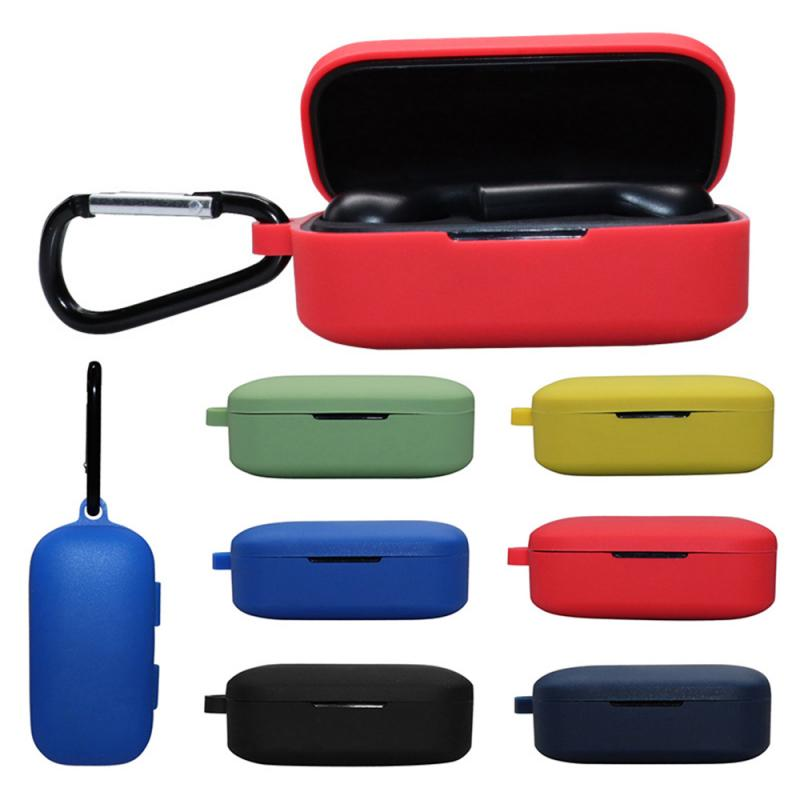 Earphone Silicone Protection Case Cover For QCY T5 Wireless Bluetooth Portable Protective Case With Anti-lost Buckle