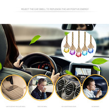 1pc Home Car Hanging Air Freshener Perfume Fragrance Diffuser Empty Glass Bottle Automotive interior decorations Accessorie