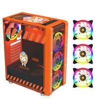 330-9 Gaming Computer Fall Host Unterstützt ATX MICROE ATX Motherboard 240mm Wasser Kühler Spiel Chassis Fall RGB