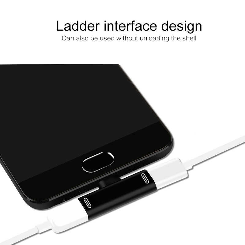 3 في 1 USB C إلى نوع C محول USB نوع C شحن سماعة محول ل شاومي 9 8 Redmi هواوي سامسونج Type-c هاتف لوحي