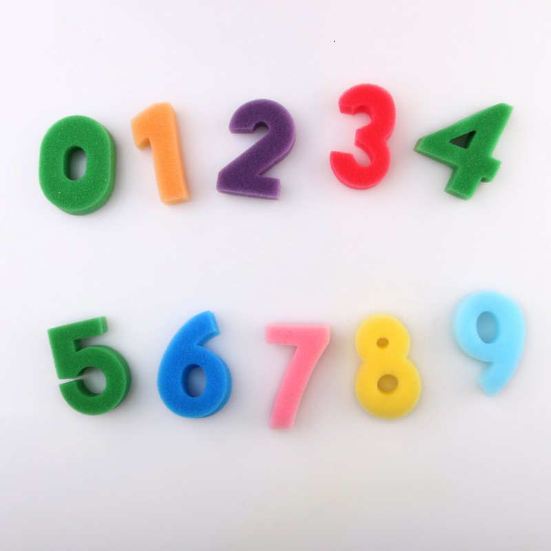 10pcs Number Graffiti Finger Painting DIY Kids Drawing Toys Baby Funny Multicolor Stamps Vintage Crafts Toy Inkpad Scrapbooking