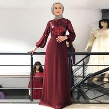 Chiffon Sequin Abaya Dubai Hijab Muslim Evening Dress Women Pakistan Kaftan Turkey Islamic Clothing Caftan Marocain Dresses Robe