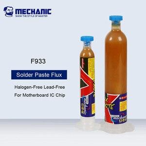 Mecânico f933 pasta de fluxo de solda para iphone placa-mãe a8 a9 reparação não-oxidação halogênio-livre de chumbo óleo de solda