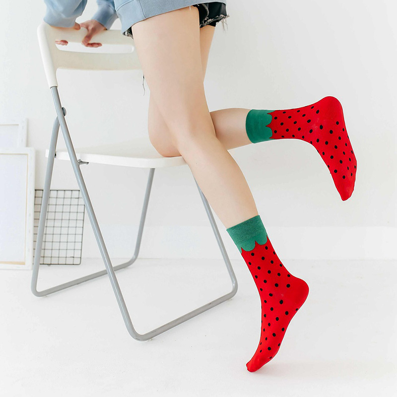 H46c5d4c51b224a9da3cd4c0267f9b817F - Women Happy Funny Socks With Print Art Cute Warm Winter Socks With Avocado Sushi Food Cotton Fashion Harajuku Unisex Sock 1 Pair