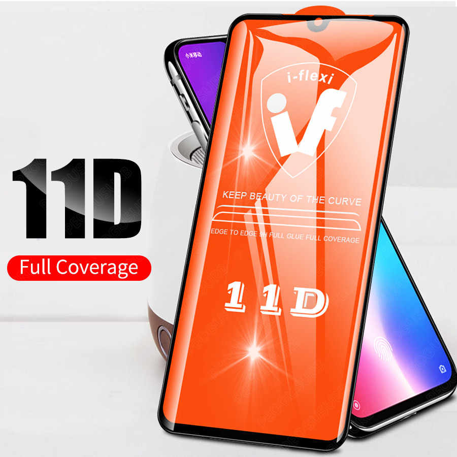 Baru 11D Full Lem Tempered Glass Full Cover Screen Protector untuk Xiao Mi Mi 9 9T 8 Max 3 pocophone F1 Merah Mi Note 8 7 K20 6 5 Pro