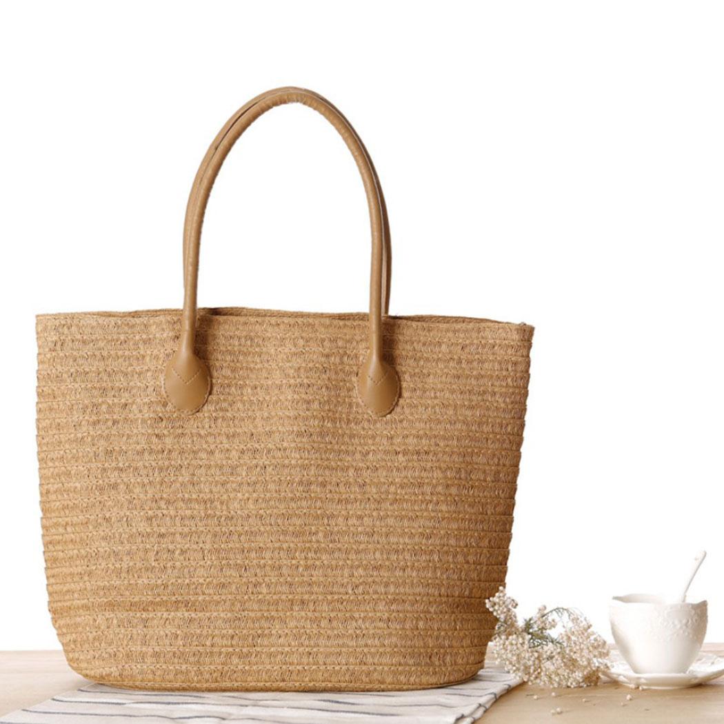 Women Handbag Summer Beach Bag Rattan Woven Handmade Knitted Straw Large Capacity Totes Women Shoulder Bag Bohemia 2019 New 3