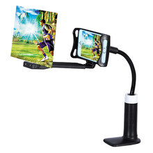 Mobile Phone HD Projection Bracket Screen Magnifier 360 Degree Adjustable for Home Office 3D PUO88