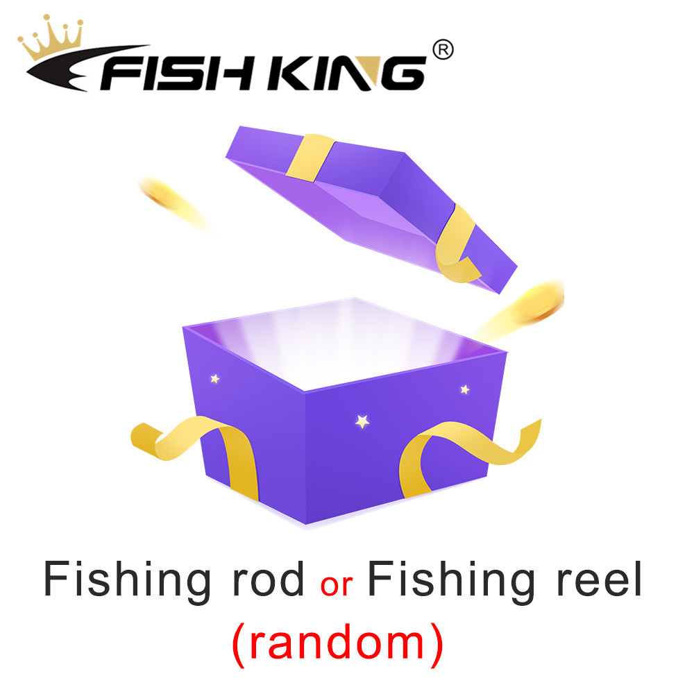 FISH KING Fishing Rod Or Fishing Reel Or Fishing Lure Lucky Package For Pike Carp Bass Trout