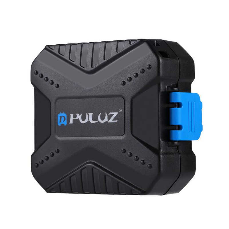 PULUZ PU5001 11 in1 كاميرا مقاومة للماء غلاف بطاقة ذاكرة مع حزام المدمجة بطاقة الحاويات مربع ل XQD + CF + TF أو MSD + SD + سيم