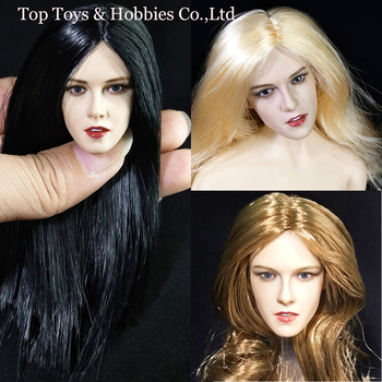 European beauty head 1/6 scale Kristen Stewart head girl head figure Fit 12'' TBL PH Figure Body
