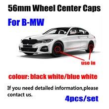 4 шт. 56 мм для BMW 3 7 5 серии G30 G31 G38 G11 G12 G20 G28 F48 F49 G01 F21 F22 Логотип колпаки ступицы колеса Крышка для обода колеса значок