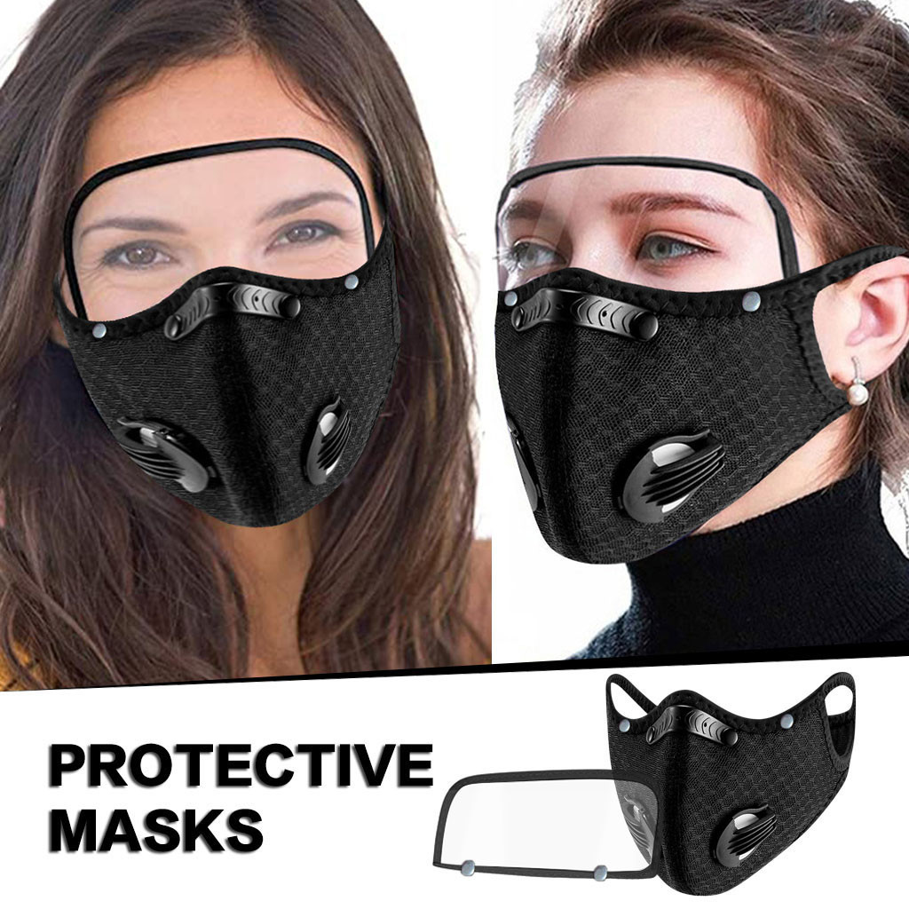 Máscara de Boca Máscara de Proteção com Olhos Peças a Respirável Mascarillas Unissex Escudo Máscara Facial Mondkapjes Wasbaar Masque Mas3 3 Peças a Pm2.5