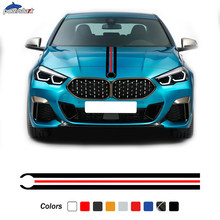 Car Hood Engine Cover Decal Bonnet Stripes Sticker For BMW F10 F30 E90 M4 F22 E46 F87 F20 X5 X3 F32 G30 G20 Z4 F40 F44 E60 M3 M5