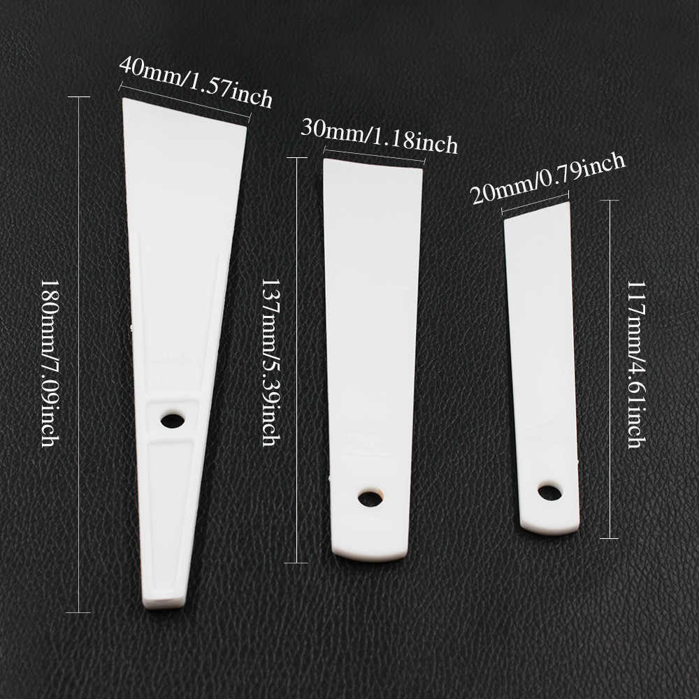 Deri El Sanatları Smear Tutkal Aracı DIY Inek Deri Kazıyıcı Tutkal Plastik Kazıyıcı Levha Oyma Ekleme Aracı