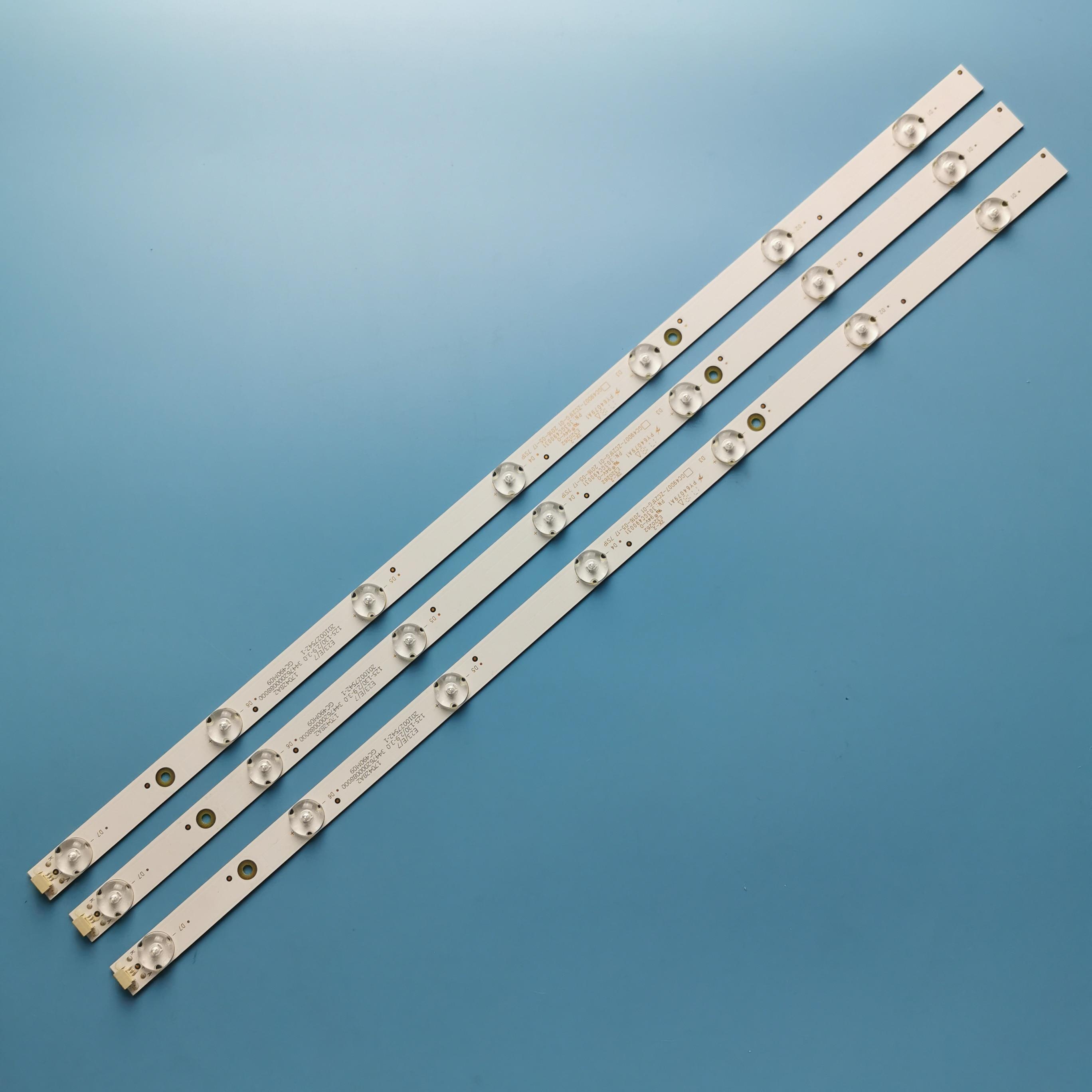 485mm LED Backlight Lamps Strips 7leds For  Philips 49PUF6261/T3 GC49D07-ZC21FG-01 303GC490031 GC490M06
