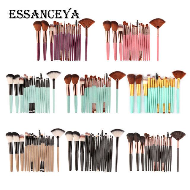 ESSANCEYA 10/15/18Pcs Makeup Brushes Set Powder Foundation Eyeshadow Blending Brush Cosmetics Makeup Beauty Tools Maquiagem Kits 5