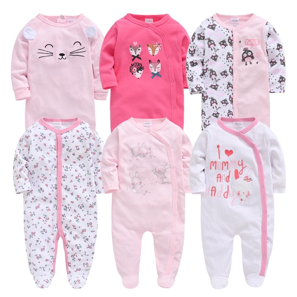 6pcs Honeyzone Winter Baby Boy Clothes Cotton Full Sleeve 3 6 9 12M Baby Pyjamas Newborn Girl Cartoon Print Body Carter's bebe