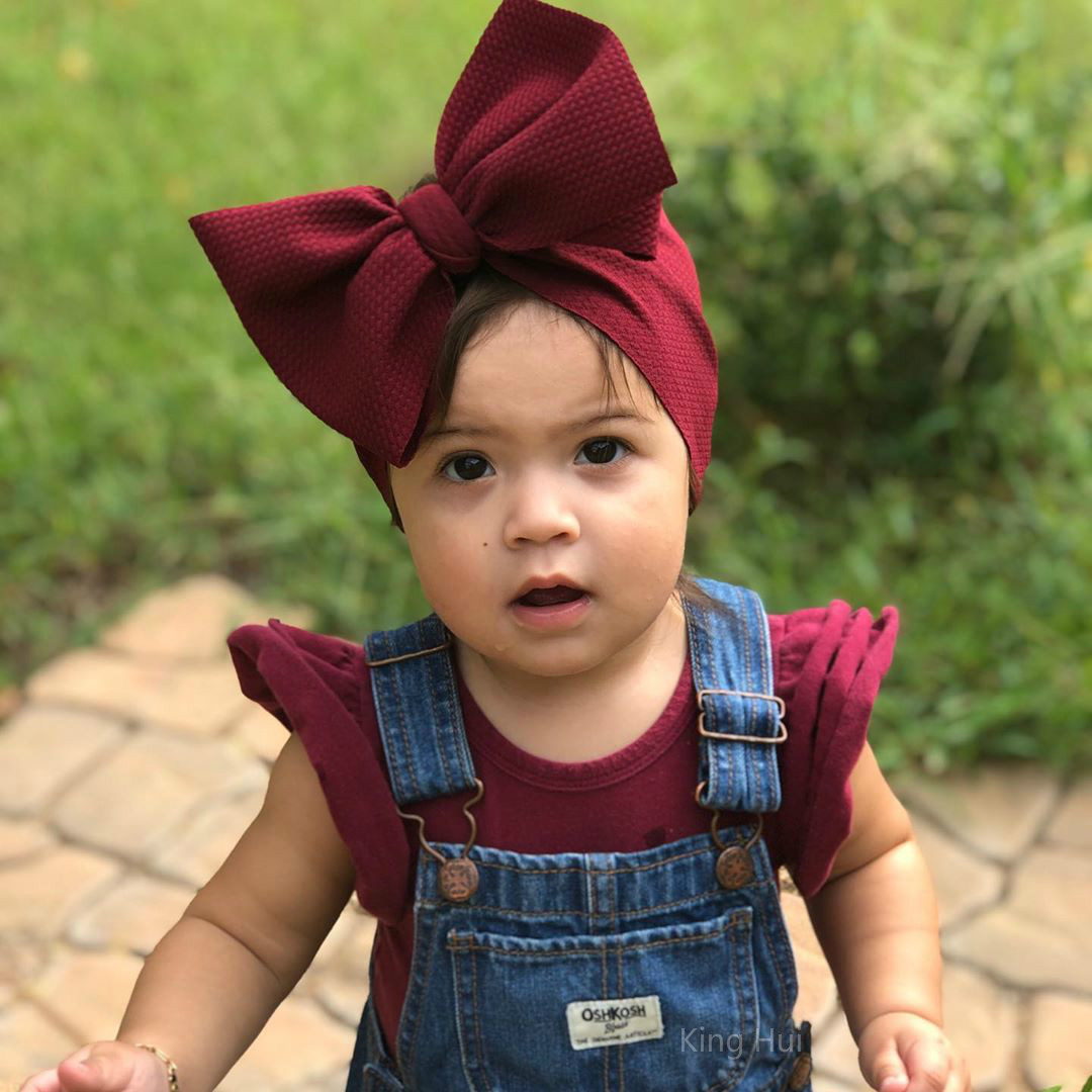 Baby Hair Accessories Bandeau Bebe Fille Headband Baby Girl Headbands for Girls Baby Headband Baby Turban Bows Diadema Bebe(China)