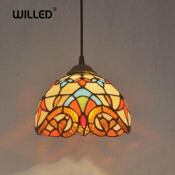 바로크 아트 레트로 펜던트 램프 거실 20 cm 티파니 유럽 복도 복도 아늑한 크리 에이 티브 라이트 홈 데코 램프
