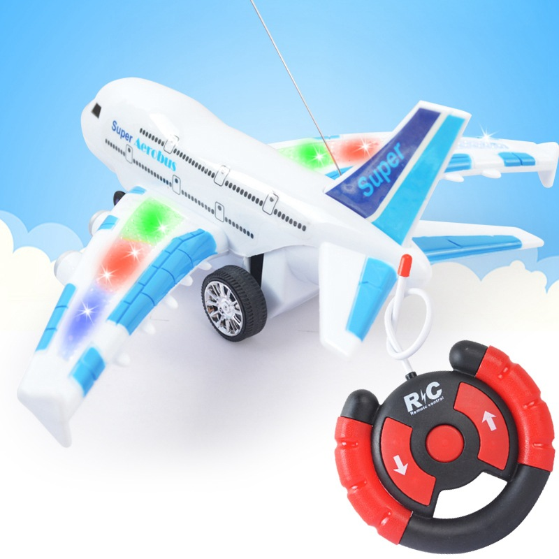 A380 Electric Airplane Lights Music SMV Remote Control Aircraft CHILDREN'S Toy Model Remote Control Aircraft Stall Supply Of Goo