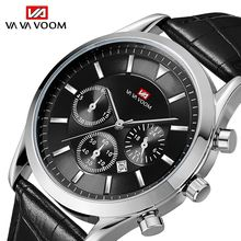 Quartz Watches Men Retro Design Leather Automatic Date Brand Luxury Waterproof Male Sport Analog Wristwatches
