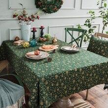 Скатерть с цветочным принтом в американском стиле, скатерть из хлопка и льна, скатерть для фестиваля, дома, улицы, вечерние, декор для мероприятий