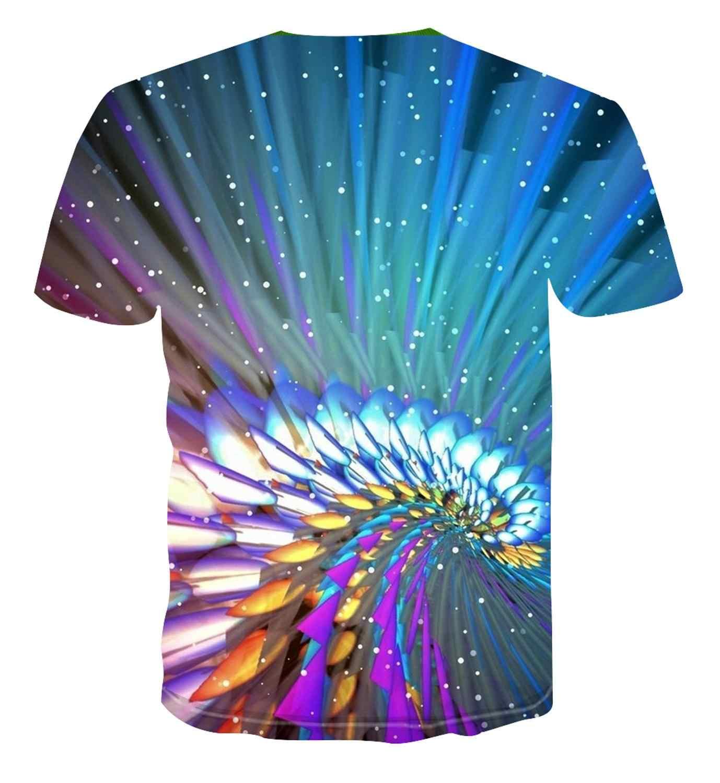 2020新夏のスタイルのメンズtシャツカラフルなクリエイティブ3D印刷男性のtシャツヒップホップカジュアルtシャツトップs-6XL