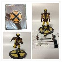 6 inç Mezco kumaş x men Wolverine 2 nesil aksiyon figürü PVC hareketli koleksiyonu oyuncak hediyeler