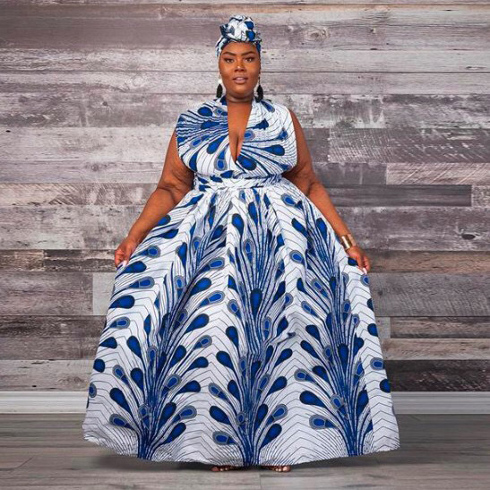 African Style Dresses Women Plus Size A Line Floor Length Print New African Dress Elegant Evening Party Night Dresses Big Size