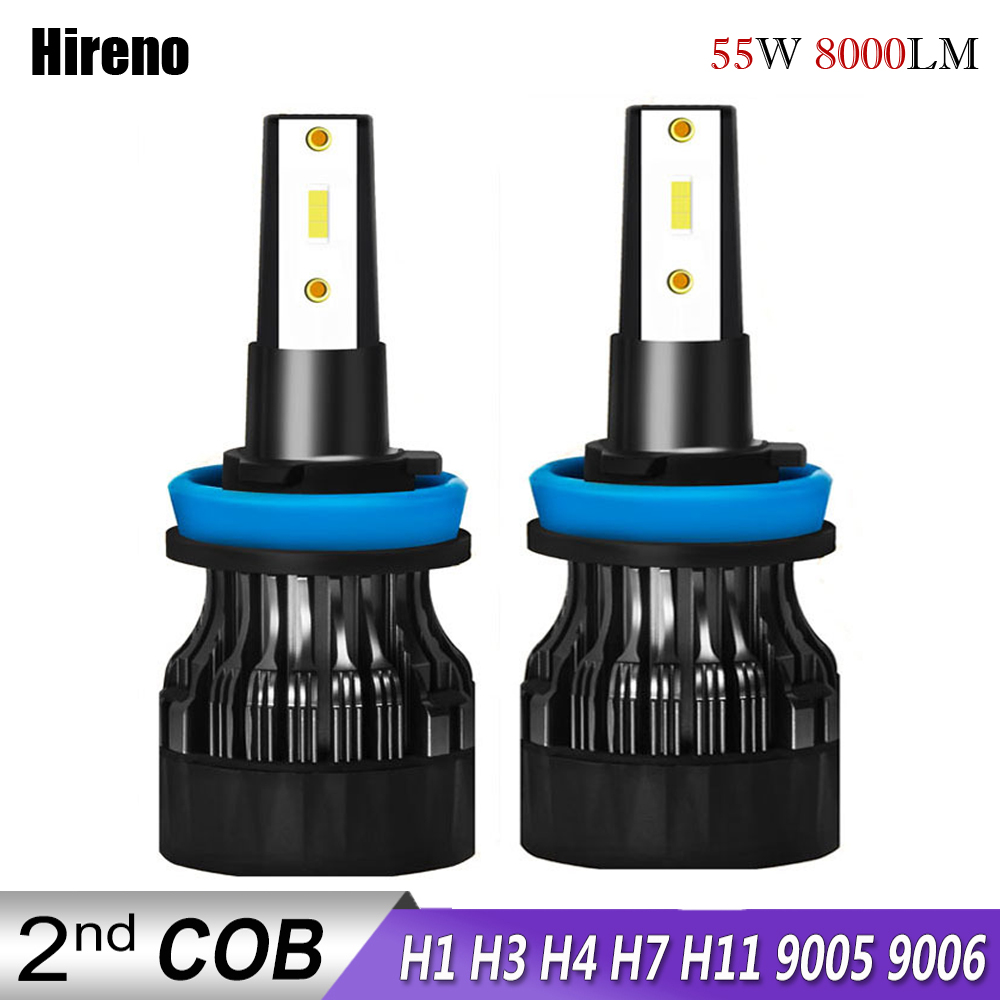 Hireno Led Headlight For Auto Led Ice Bulb Car Led Light H4 H7 H11 9005 9006 HB3 BH4 H1 Automobile Diode Lamps H7 LED Bulb H4