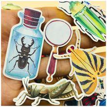 36 шт/компл винтажная наклейка в виде божьей коровки насекомых
